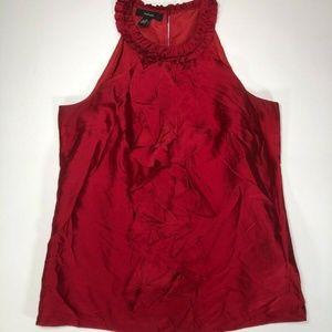 Alfan Womens Red Tank Top Blouse Sleeveless Size 4